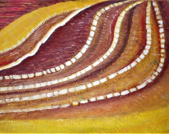 "Original abstract oil painting by Nalan Laluk: ""Terraces"""