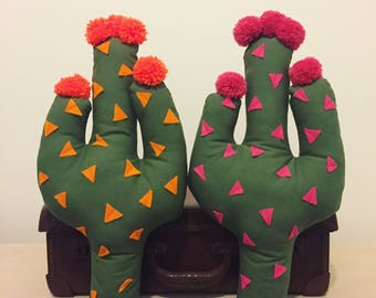 Pom pom cactus cushion
