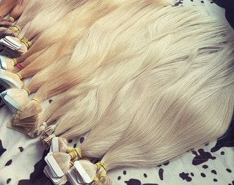 """Tape in human hair extensions,22"""", European hair,Remy hair,hand made,Slavic hair"""
