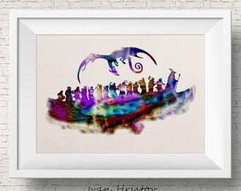 The Hobbit Watercolor Print, watercolor painting,watercolor art,Hobbit art,The Hobbit poster,Lord of the Rings art,Lord of the Rings print