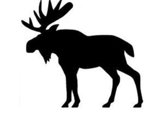 Moose Style 3 Stencil Made from 4 Ply Mat Board-Choose a Size-From 5x7 to 24x36