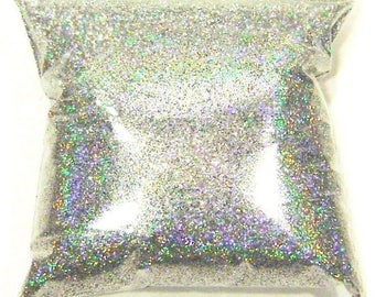 """Silver Jewels Holographic Glitter Solvent Resistant .008"""" Fine Polyester Holo Glitter, Nail Polish, Slime, Yeti Glitter 9oz / 266ml Package"""