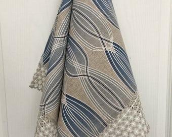 Linen Dish Towel Kitchen Towel with Lace Tea Towel