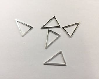 10 spacer triangles 22x16mm silver jewelry designs