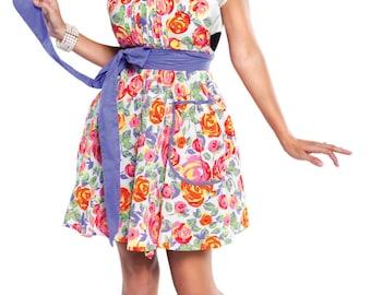Flirty Aprons Women's Lindy Lavender Rose Apron