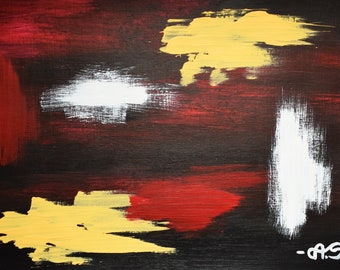 Abstract acrylic painting on paper - Original artwork
