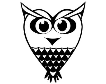 Iron-on owl flex heat transfer