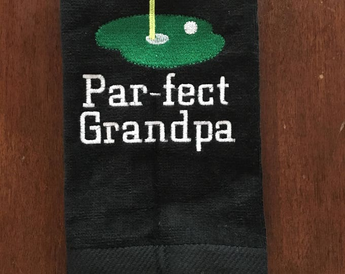 Golf, par-fect, Personalized golf, golf gift, personalized gift, golf accessories, personalized towel, sport towel, embroidered towels,