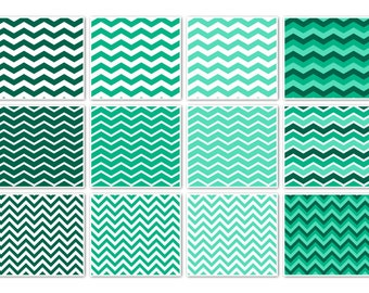 009 CHEVRON RAINBOW & WHITE digital paper pack for scrapbooking, albums, cards and crafts