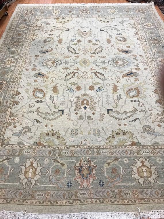 "9' x 12'2"" Pakistani Sumak Flat Weave Oriental Rug - Hand Made - 100% Wool"