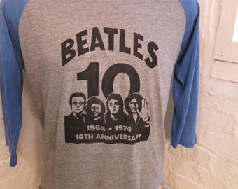 Size XL (48) ** Dated 1974 Beatles Shirt (Single Sided)