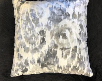 Cut Velvet Abstract Pillow