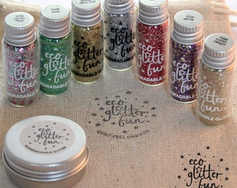 Blends Eco Glitter set - biodegradable, body glitter, hair glitter, face glitter, beard glitter for festival faces and children's parties.