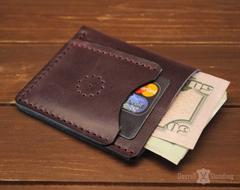 Small womens wallet, plum color SW012