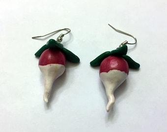 luna lovegood dirigible plum/radish earrings