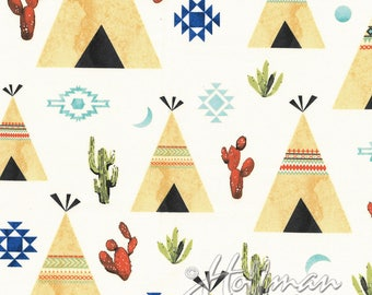 Desert Dawn teepees and cactus by Hailey Hoffman