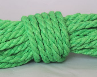 Bright Green Hemp Bondage Rope Shibari Rope