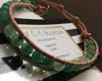 Lava beads wrap bohemian leather bracelet, Popular best selling, Trendy