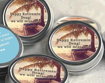 12 Retirement Mint Tins - RetireMints - Beach - Retirement Favors - Retirement Decor - Retirement Mints - Retired Mints - Beach Mints
