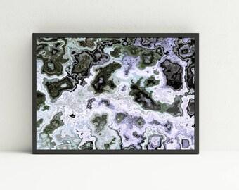Green Abstract Wall Art - Marble Printable Wall Art - Geologic Wall Art - Digital Art Download - Masculine Wall Art - Earth Tones Wall Art
