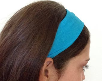 Athletic headband, blue, running, yoga, sports, headbands for women, headbands for teens, gifts for her, gifts under 10, gifts under 20.
