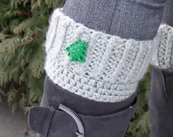 Winter wonderland boot cuffs