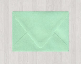 10 A9 Envelopes - Euro Flap - Mint & Light Green - DIY Invitations - Envelopes for Weddings and Other Events