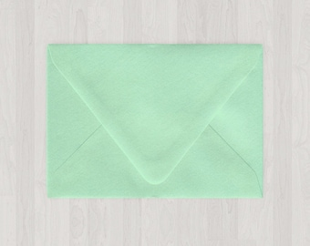 10 A6 Envelopes - Euro Flap - Mint & Light Green - DIY Invitations - Envelopes for Weddings and Other Events