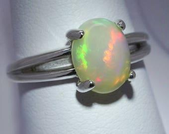 Wunderschöne Regenbogen Welo Opal Verlobungsring Ring Sterlingsilber