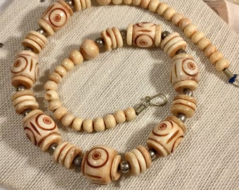 Vintage Chunky Tribal Beaded Necklace