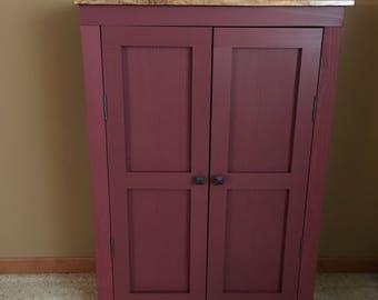 Marvelous Rustic Farmhouse Primitive Cabinet