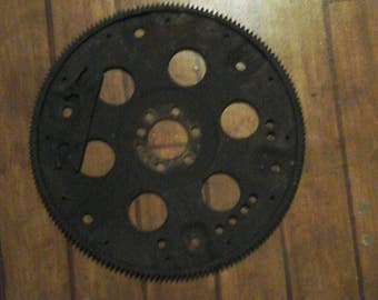 Large Flywheel Large Gear Steampunk Design Industrail Automotive Man Cave Country Road Boutique