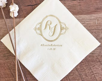 Ornate Monogram Napkins