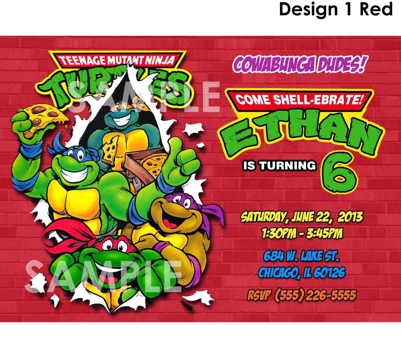 Teenage mutant ninja turtles invitation printable tmnt zoom filmwisefo