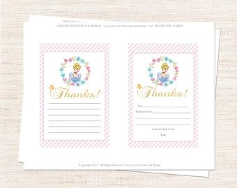 Cinderella Thank You Set | Cinderella Inspired Thank You Printable | Girl Birthday | Gracie Lee Design