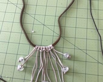 Fringe bead choker