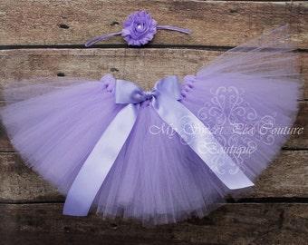 Lavender Tutu & Headband Set- Tutu- Princess Tutu- Baby Tutu- 1st Birthday Tutu- Cake Smash Tutu- Birthday Tutu- First Birthday- Photo Prop