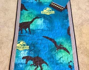 Jurassic World Quilt 40x60 with pillowcase