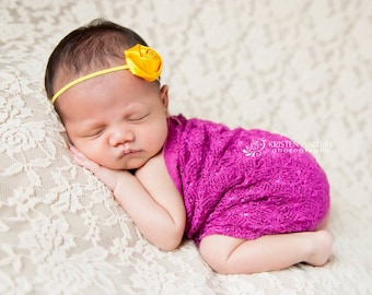 FREE SHIPPING! Yellow Baby Headband, Yellow Headbands, Flower Headbands, Baby Girl Headband, Baby Flower Headbands, Photography Prop