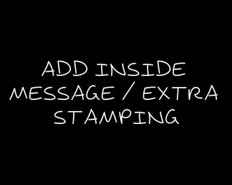 Add Inside Message/Extra Stamping on Bracelets