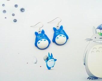 earrings totoro polymer clay