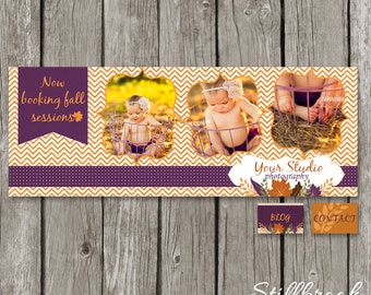 Fall Facebook Timeline Cover Template - Autumn Cover Photo Photography Timeline for Photographers - TC18