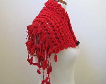 Red Cowl(Mini Shawl)