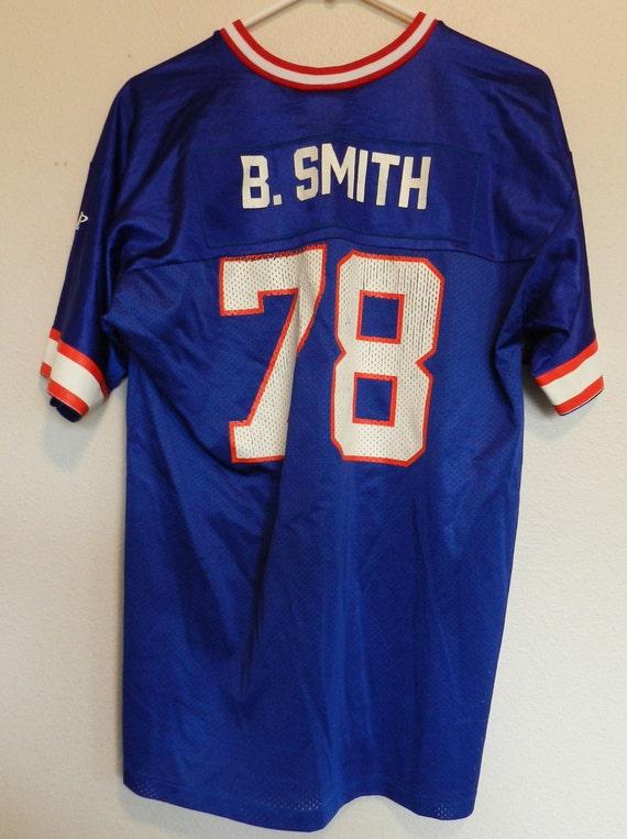 Buffalo Bills Bruce Smith UNSIGNED CUSTOM Made Blue Jersey LfGCSpe