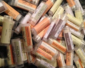 3 Lip Balm Tubes - You Pick the Flavors of All Natural Beeswax Lip Salve Chapstick from Lee the Beekeeper
