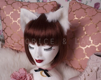 Realistic kitten play ears / alternative fur colour options / customisation available / wired