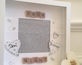 Personalised Prom Frame / Prom Night /Girls / Boys / Scrabble art