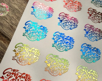 Sending Love foiled stickers - happy mail
