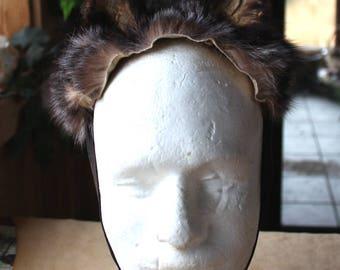 Fox ears headdress - real eco-friendly crystal fox fur ears costume for ritual and dance