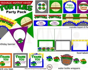 Teenage Mutant Ninja Turtles PRINTABLE Party Pack